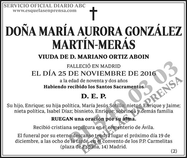 María Aurora González Martín-Merás